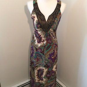 Ladies multicolor maxi dress size medium